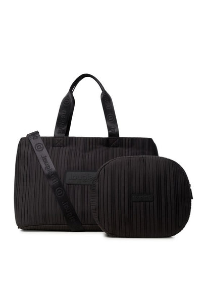 2 in 1 Sports Bag - Black Duffle