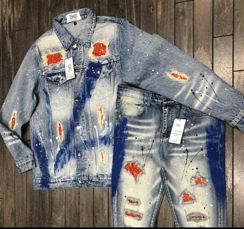 DNA Premium Blue Jean Red/Gold Jacket