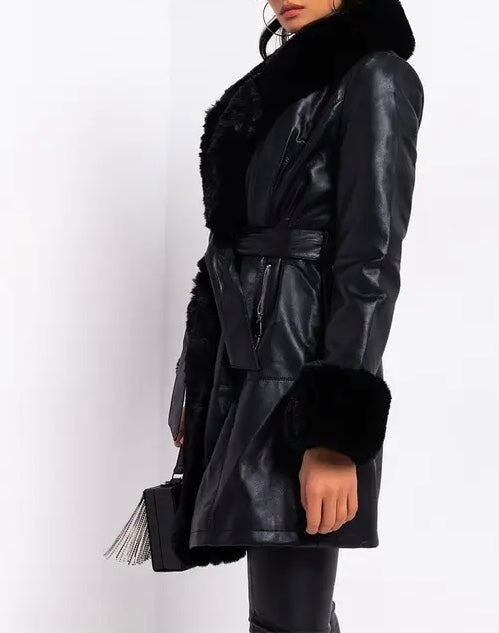 Gram Girl Faux Fur Collar/Wrist Coat