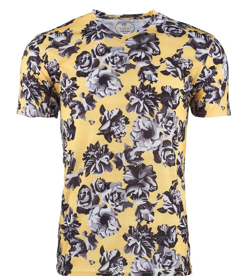 Suslo Yellow Floral Tee & Black Chain Tee