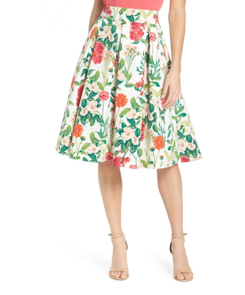 EJ White Flower Bloom Skirt