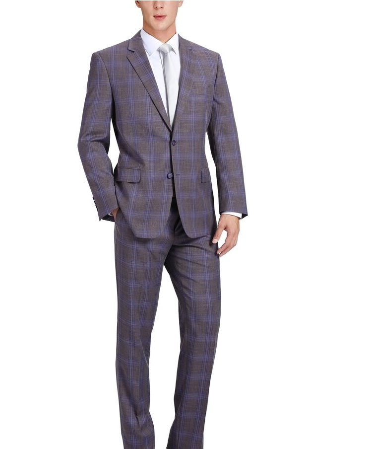 Renoir Super 140's Purple Plaid Suit
