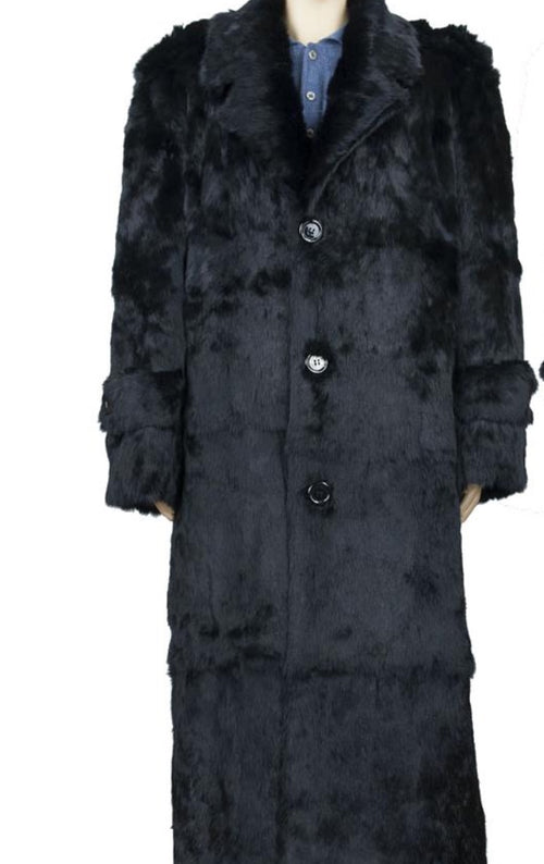Full Length Rabbit Fur Black