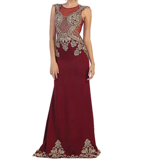 Burgundy Egyptian Gown