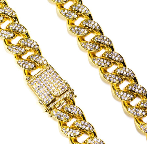 GG Studded Cuban Link Necklace