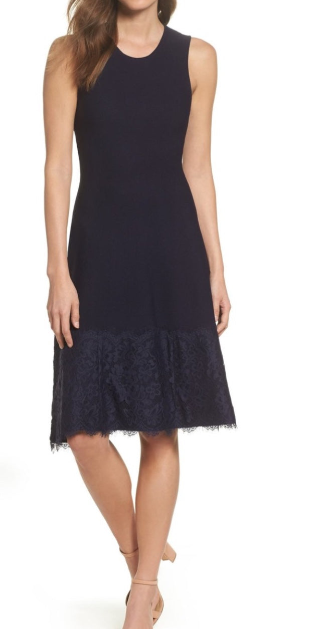EJ Lace Navy Dress