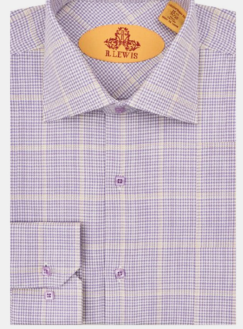 R. Lewis Lilac Cotton Shirt
