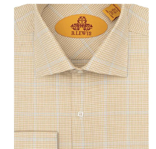 R. Lewis Taupe Cotton Shirt