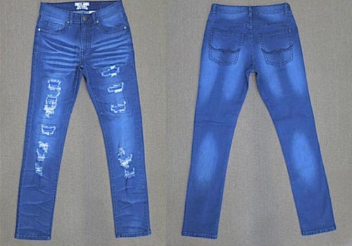"Hustle Jeans ""Blue Ripped"""