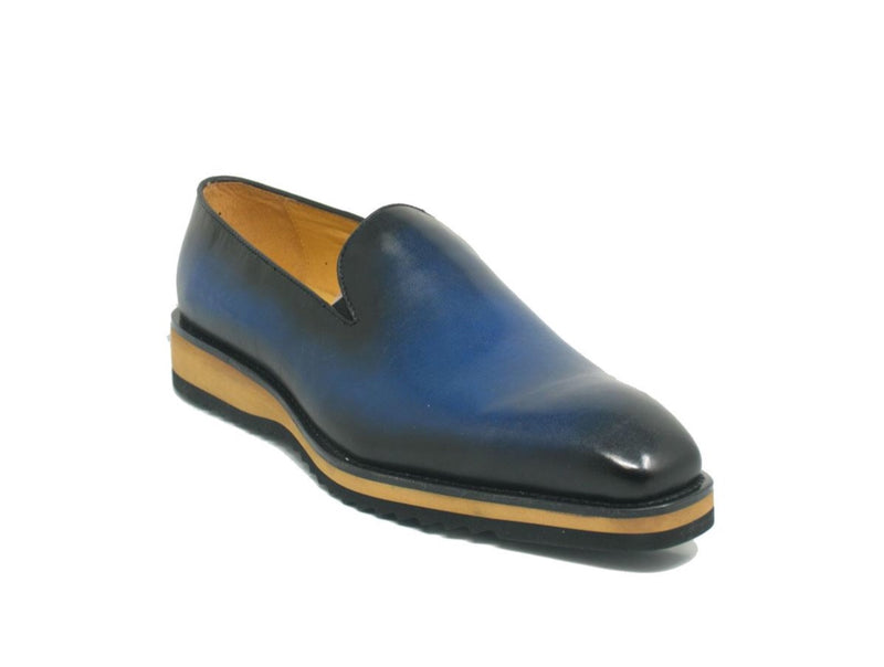 Carrucci Whole Cut Leather Loafers