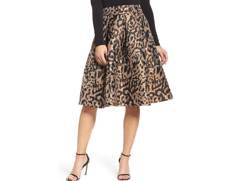 EJ Animal Print Skirt