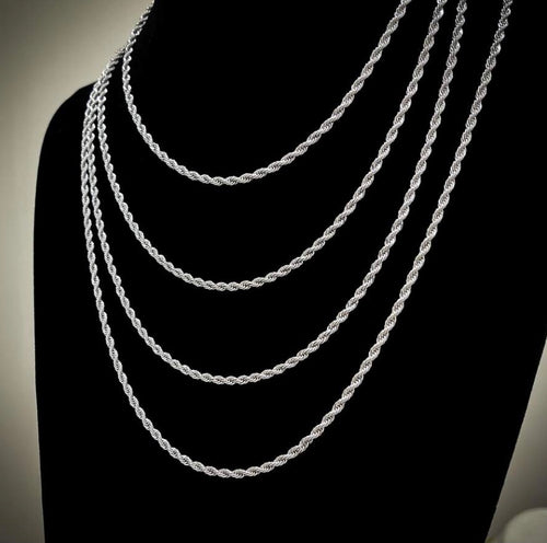 White Gold Rope Chains