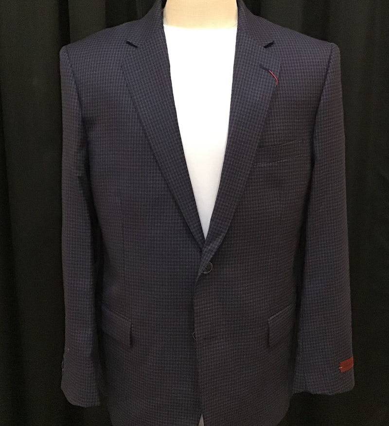 Renoir Super 140's Purple/Navy Blazer