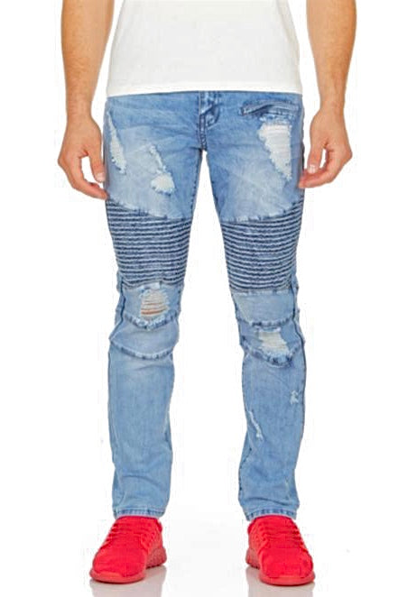 "Hustle Jeans ""Biker Ripped"""