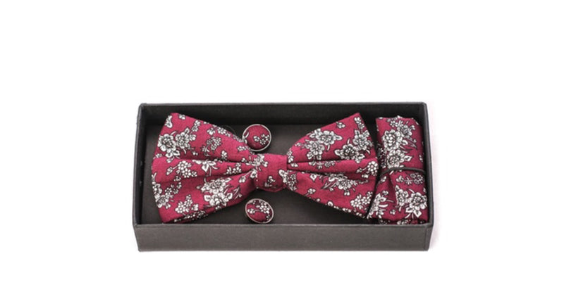 Elie Bow Tie/cuff links/pocket square Sets