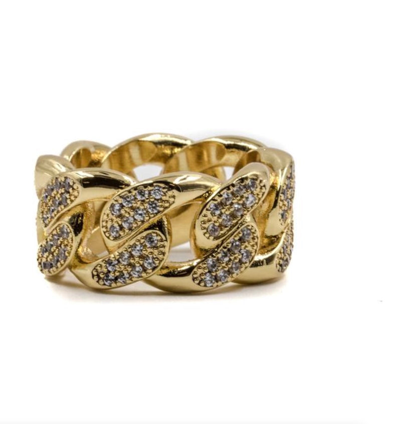 GG Studded Cuban Ring
