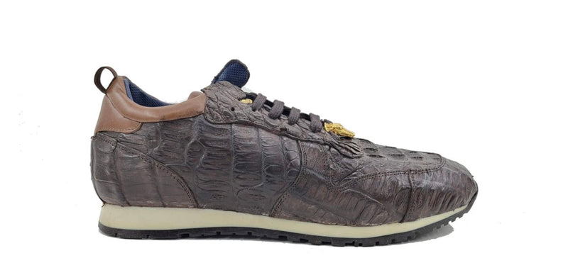 Carrucci Crocodile Horn Back Sneaker