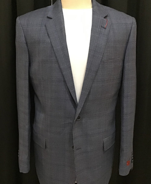 Renoir Super 140's Blue/Gray Blazer