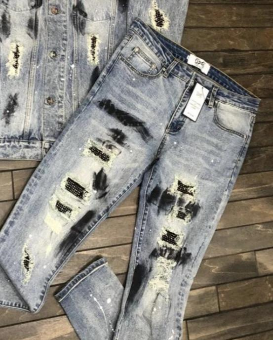 DNA Premium Blue Jean Black/Silver Jeans