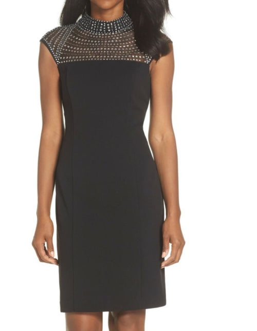 Vince Camuto Black Rhinestone Dress