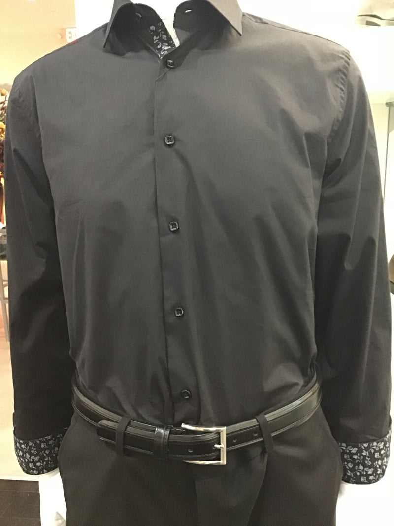 Suslo Couture Black wrinkle free shirt