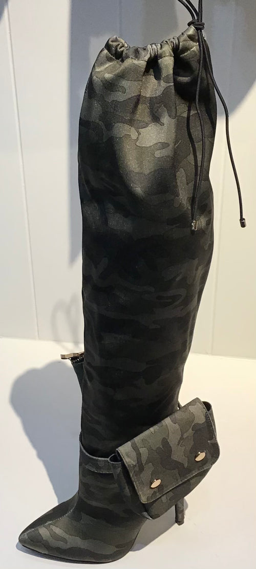 Turner Camo Thigh High Boots