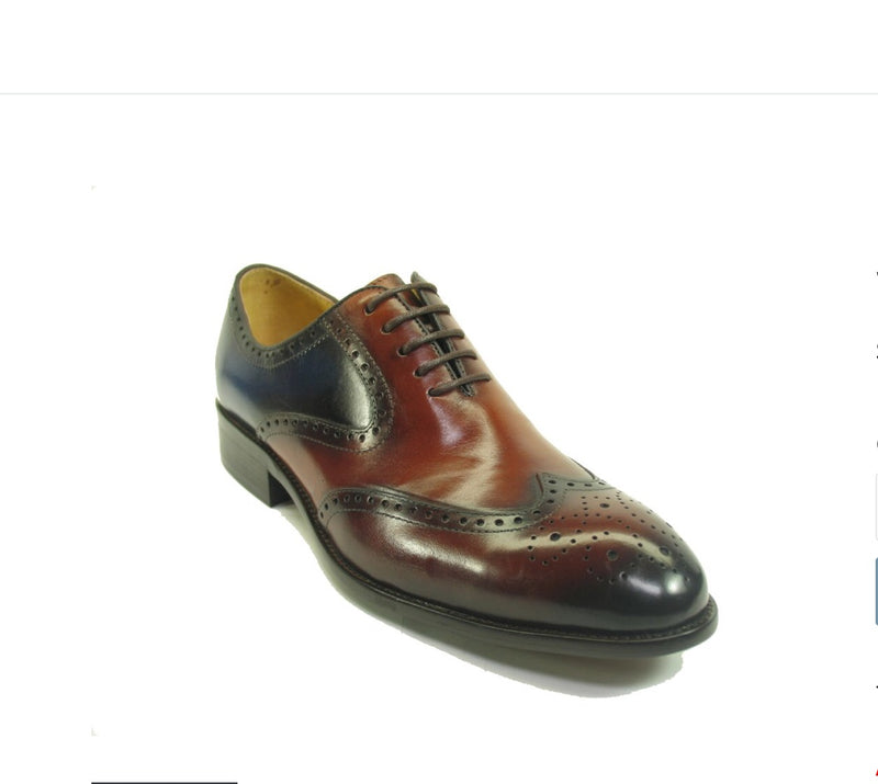Carrucci Wingtip Whisky Blue