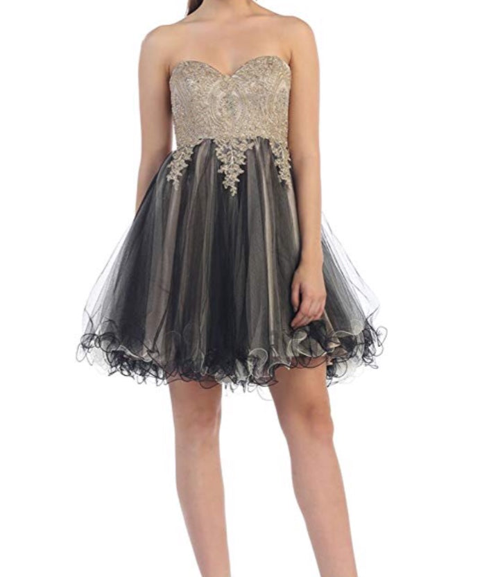 Black And Gold Tutu Dress