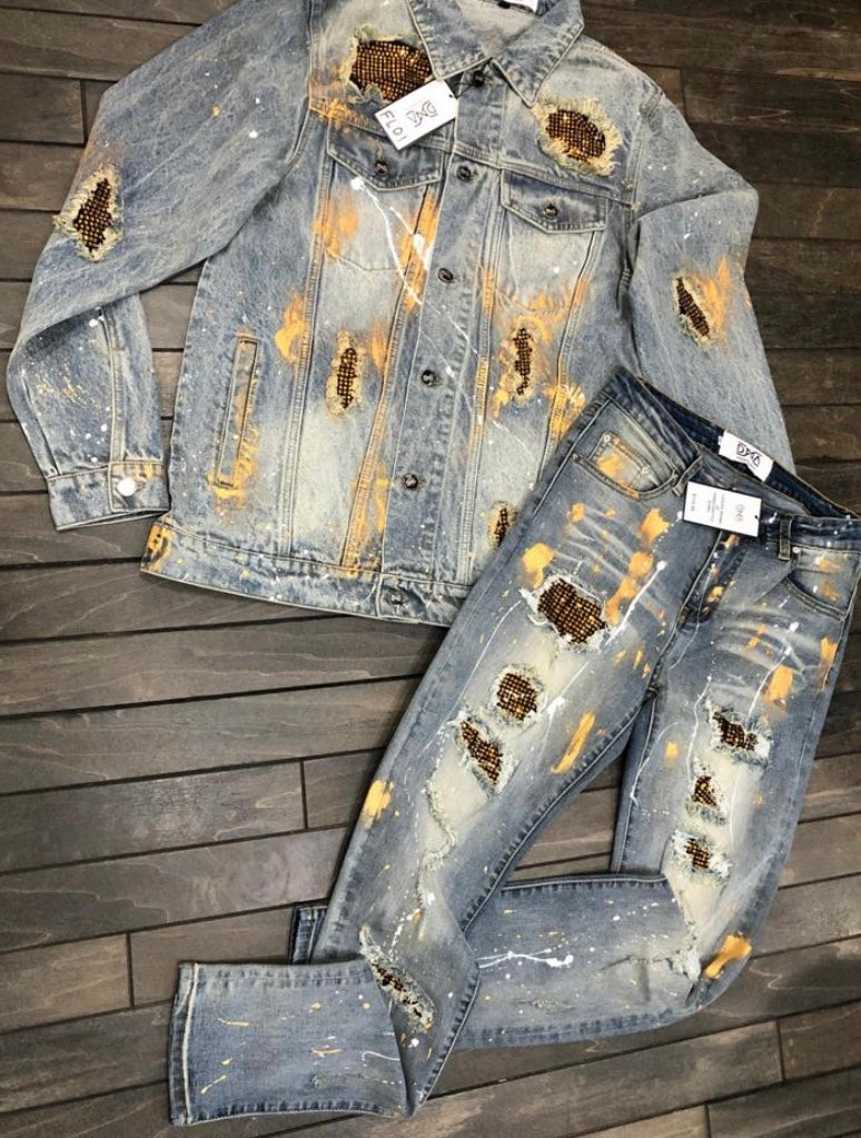 DNA Premium Blue Jean Black/Gold Jacket