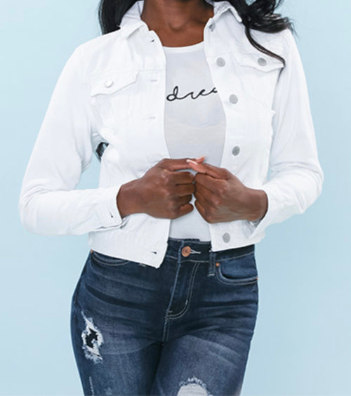 YMI White Jean Jacket