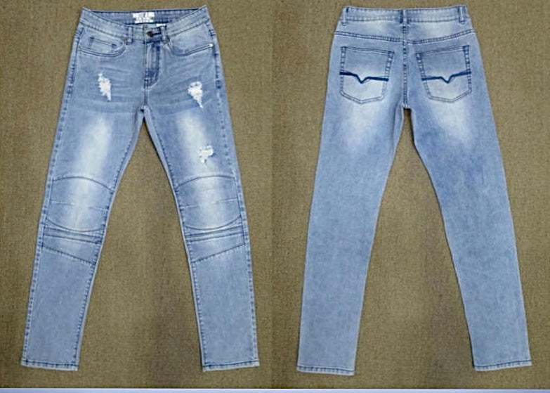 "Hustle Jeans ""Sky Distressed"""