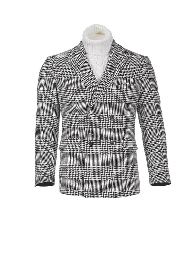 INSERCH - BLACK/WHITE CHECK BLAZER