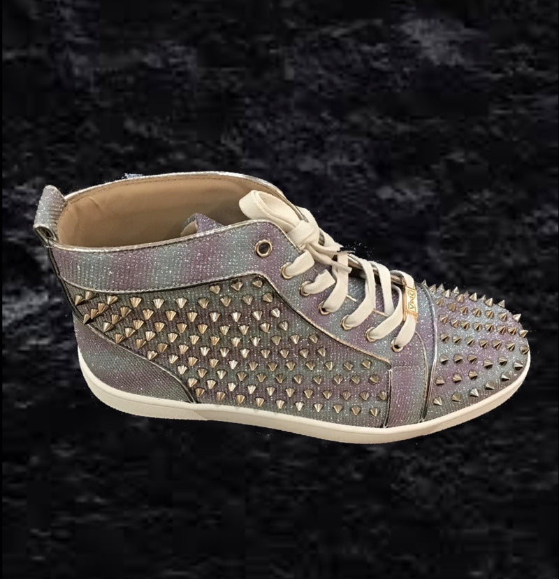 DNA - Silver/Purple Stud Men's Shoe