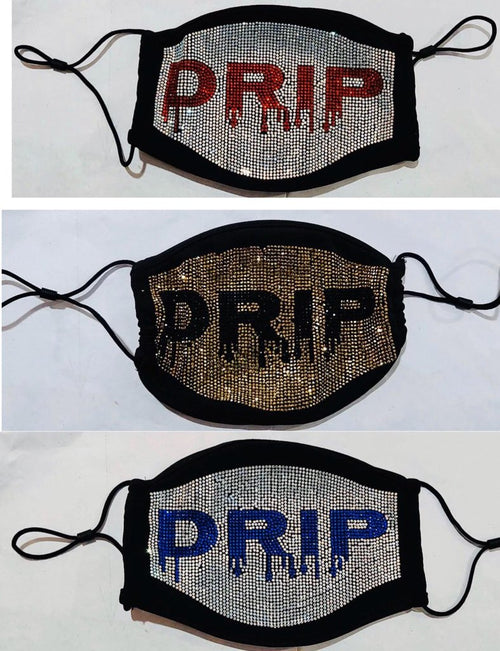 "Bling Face Mask ""Drip"""