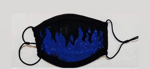 "Bling Face Mask ""Flame"""