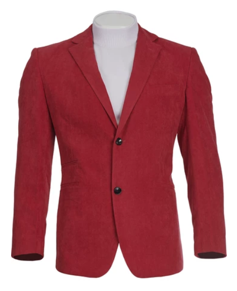 INSERCH - RED SUEDE BLAZER