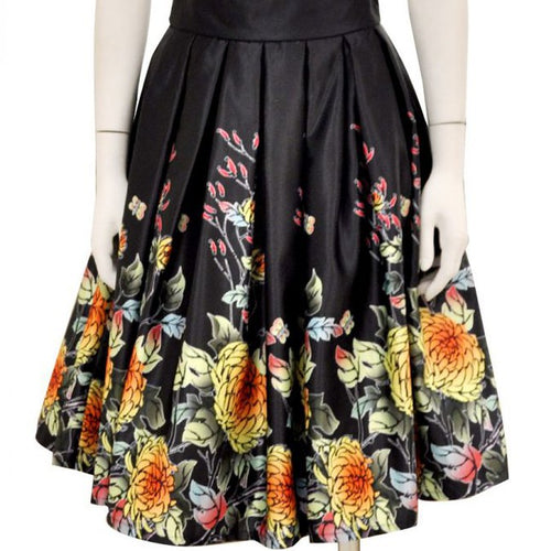 Black Base Spring Colors Skirt