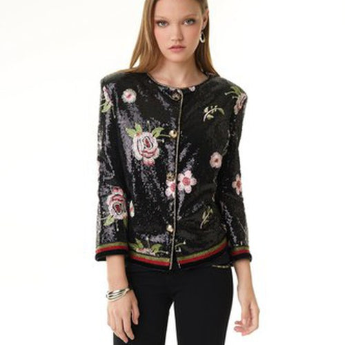 Alberto Makali EMBROIDERED BOMBER JACKET