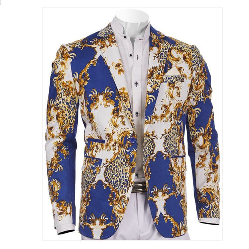 BLUE AND GOLD BLAZER - INSERCH