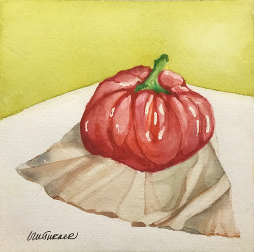 Harvest Bounty I - Watercolour painting of a ripe tomato