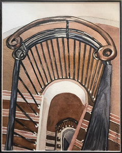 Art Deco Staircase: Inverness, Scotland