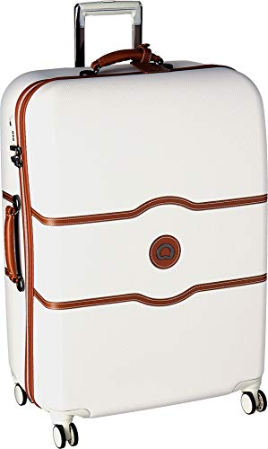Delsey Luggage Chatelet Hard+, Large Checked Luggage, Hard Case Spinner Suitcase, Chapagne
