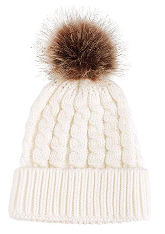 Simplicity Winter White Beanie Hat
