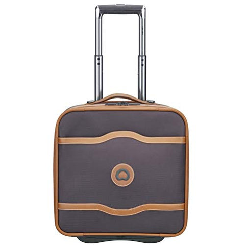 Delsey Luggage Chatelet Soft Air 2-Wheel Under-Seater, Chocolate