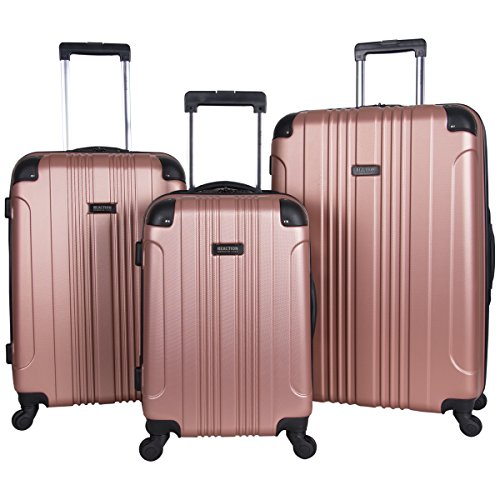 "Kenneth Cole Reaction Out Of Bounds 4-Wheel Hardside 3-Piece Luggage Set: 20"" Carry-on, 24"", 28"", Rose Gold"