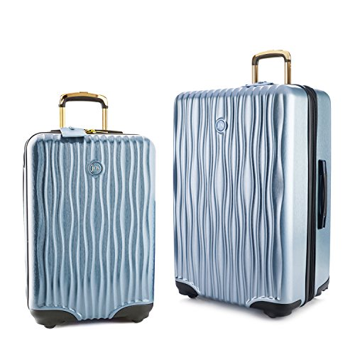 Joy Mangano Hardside Medium Luggage (Carry-on) and Xl Luggage Combo, Steel Blue