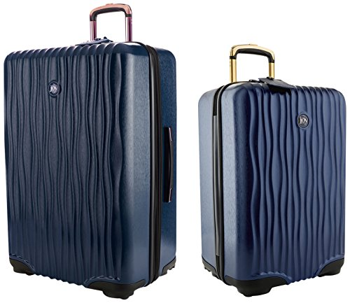Joy Mangano Women's Jm Hardside Medium Luggage (Carry-on) & XL Dresser Combo Navy