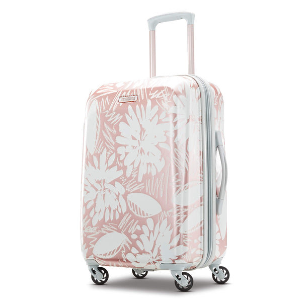 American Tourister Carry On Luggage - Ascending Garden Rose Gold
