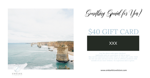 $40 Embark Travel Store Gift Card