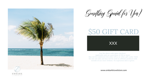 $50 Embark Travel Store Gift Card
